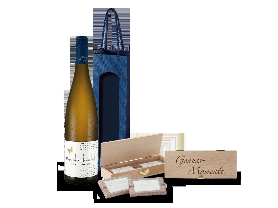 Weißwein Präsent Purer Riesling- & Schokoladen-Genuss Pfalz