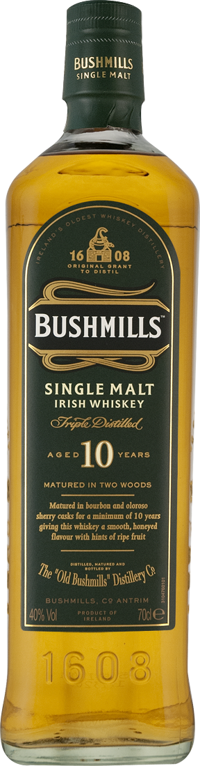 Bushmills Malt Irish Whiskey 10 Jahre 40% vol.36,41? pro l