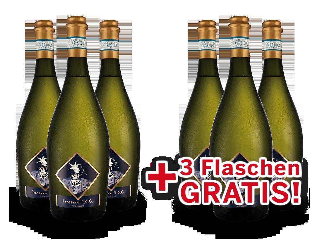 Vorteilspaket 6 für 3 Viticoltori Ponte Prosecco Frizzante Selezione del Re8,66? pro l