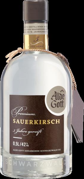 Alde Gott Edelbrand Premium Sauerkirsch 5 Jahre 42% vol. 0,5l