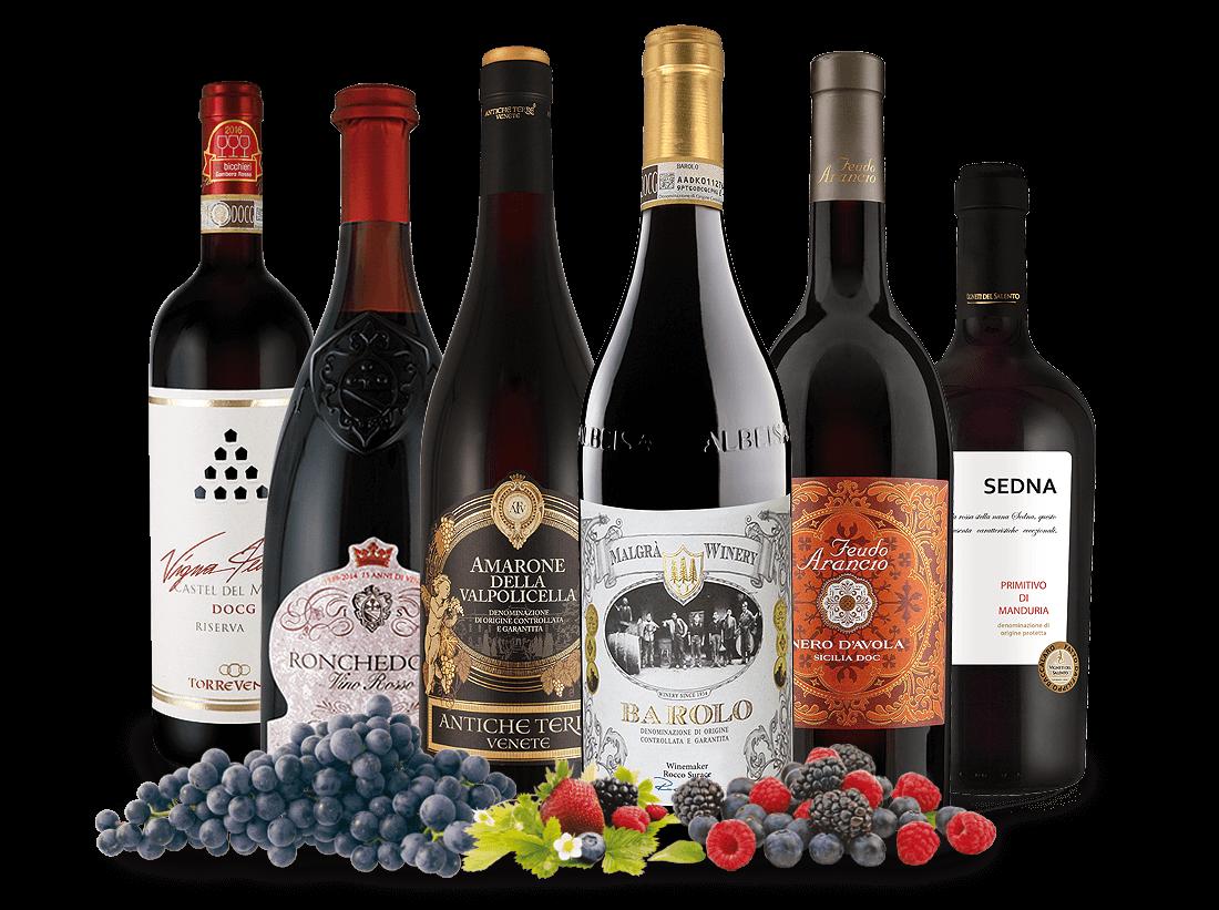 Italien Schatzkiste - Kräftige Rotwein-Klassike...