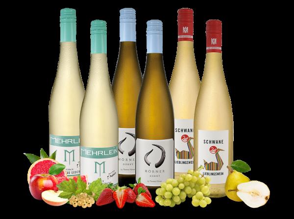 Genial frische Weißweine im Sommerglückspaket
