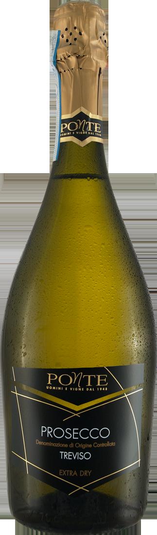 Weißwein Viticoltori Ponte Prosecco Spumante Extra Dry DOC Venetien 13,20€ pro l