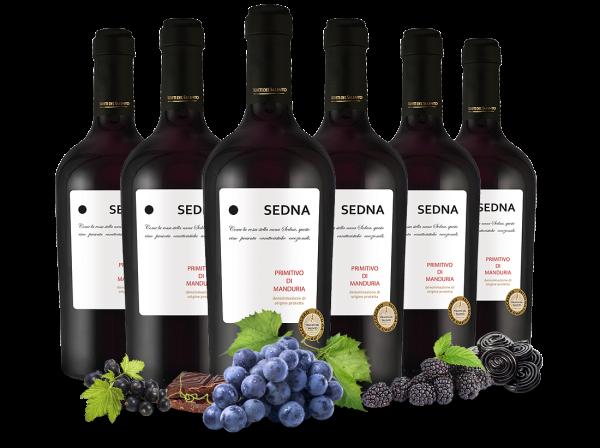 Vorteilspaket 6 Flaschen Primitivo di Manduria SEDNA