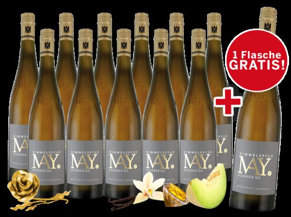 Paket 11+1 Weingut Rudolf May Himmelspfad Silvaner GG