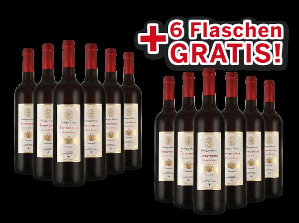 Vorteilspaket 12 für 6 Bodegas Alenur Tempranillo Terraventus
