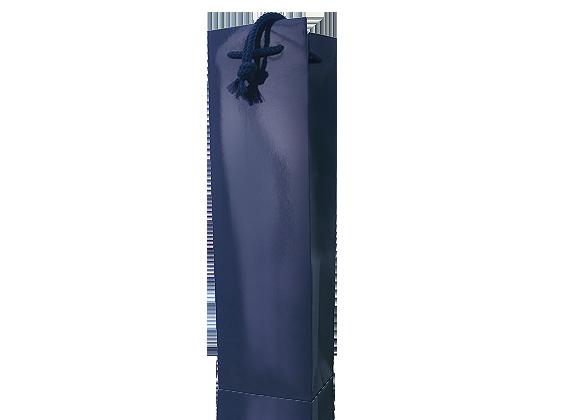 Präsentverpackung Lacktüte dunkelblau für 1 Flasche Wein