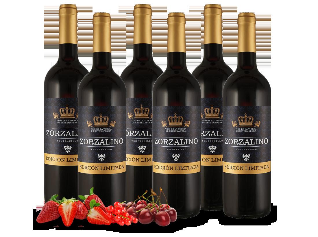 Probierpaket 6 Flaschen Viñaoliva Tempranillo Zorzalino Tinto6,66? pro l