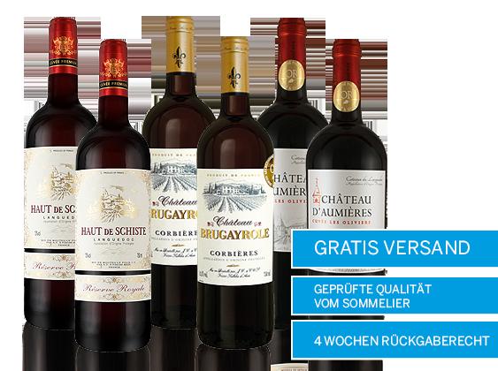 Edle Languedoc Rotweine Probierpaket Versandkostenfrei8,72€ pro l
