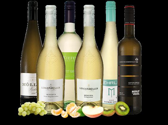 Das kleine Deutschlandpaket mit 6 Fl. Weißwein