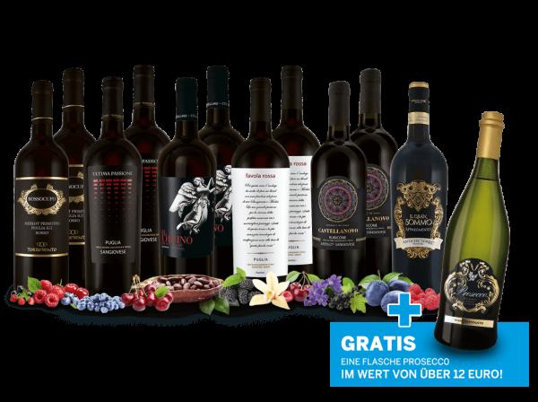 Italienisches Ganoven-Rotwein-Paket und Prosecco gratis