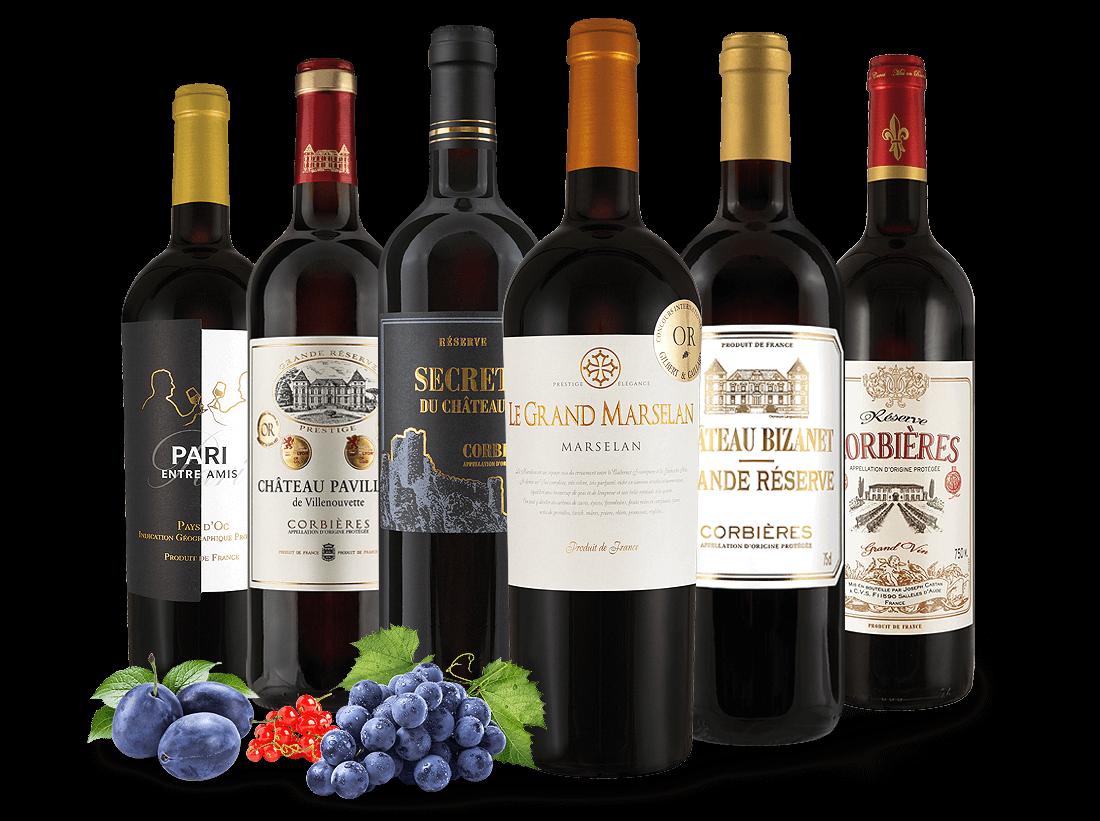 Kennenlernpaket Rotweine Joseph Castan aus Südfrankreich10,00? pro l
