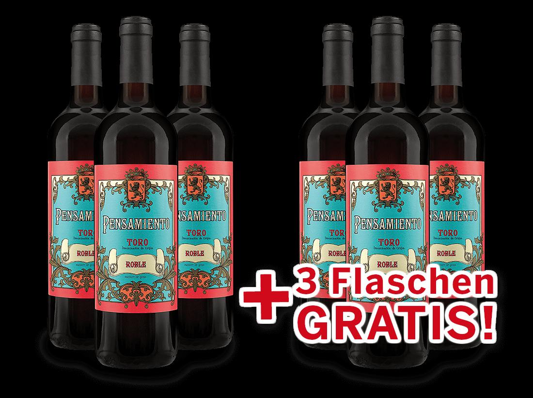 Vorteilspaket 6 für 3 Bodegas Monte la Reina Pensamiento Roble7,99€ pro l