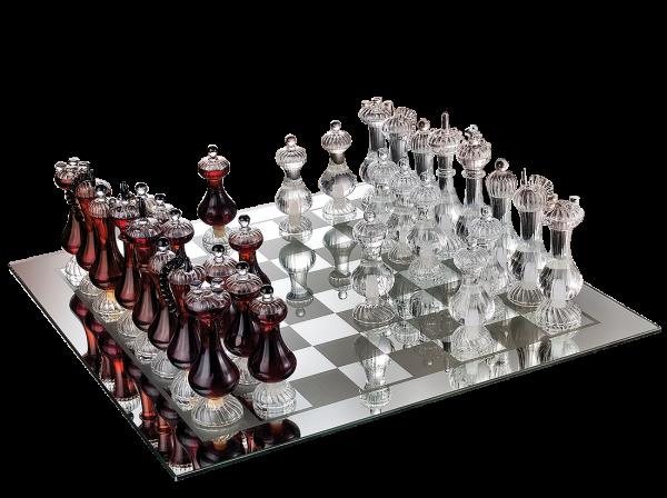"""Mazzetti d'Altavilla Scacchiera Reale """"Spiel der Könige"""" - Schachspiel mit Grappa"""