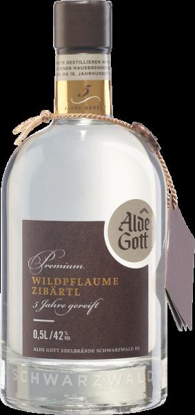 Alde Gott Edelbrand Premium Wildpflaume (Zibärtl) 42% vol. 0,5l
