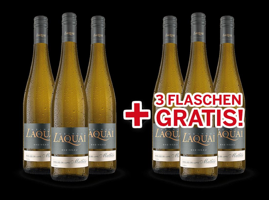 Vorteilspaket 6 für 3 Laquai Riesling de luxe Mathör9,98€ pro l