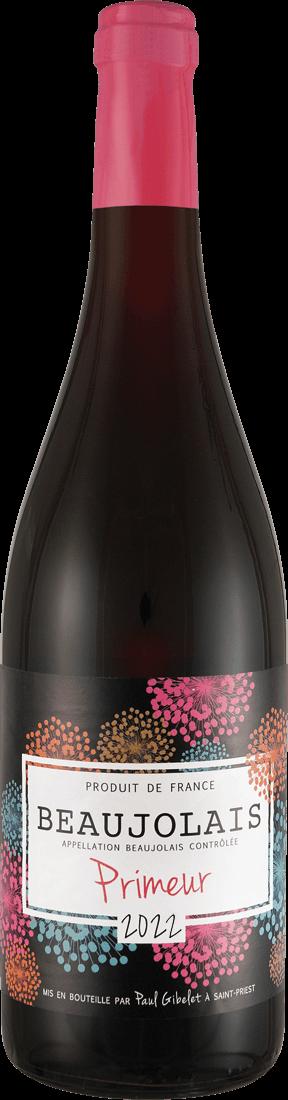 Rotwein Paul Gibelet Beaujolais Primeur AOC Burgund 9,32€ pro l