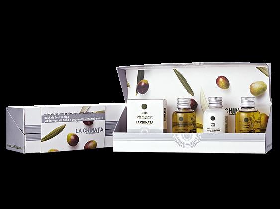 Präsent Wellness-Set mit Oliven-Pflegeprodukten