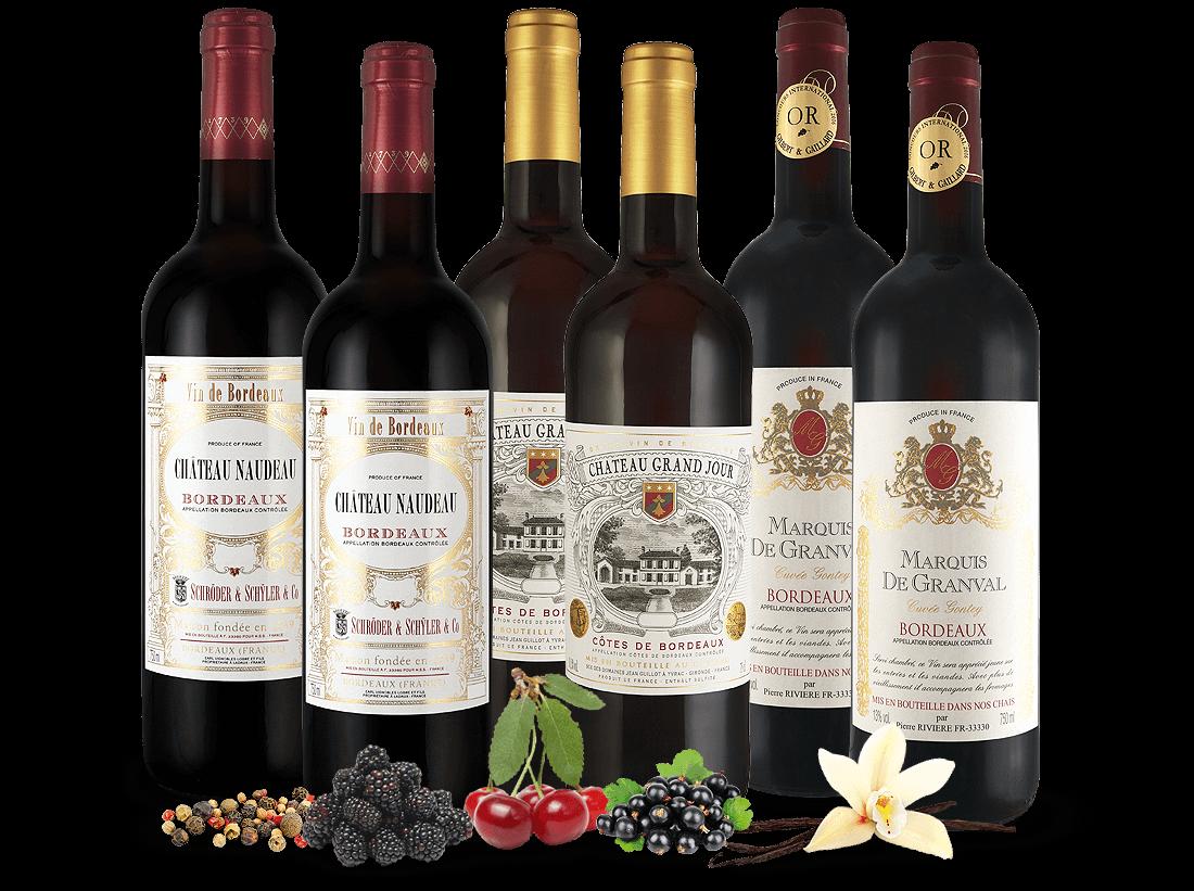 Bordeaux-Genusspaket 6 Flaschen8,89€ pro l
