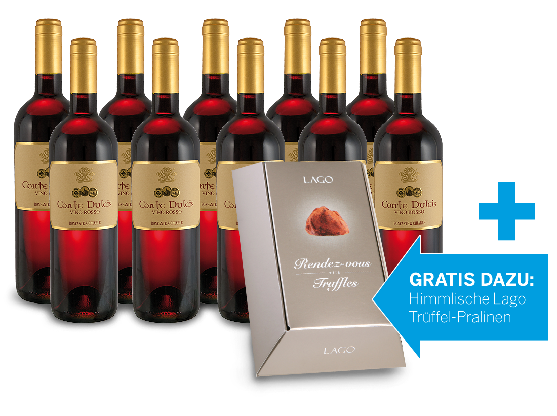 Die süße Verführung mit 10 Flaschen Conte Dulcis & Trüffel-Pralinen gratis6,66€ pro l