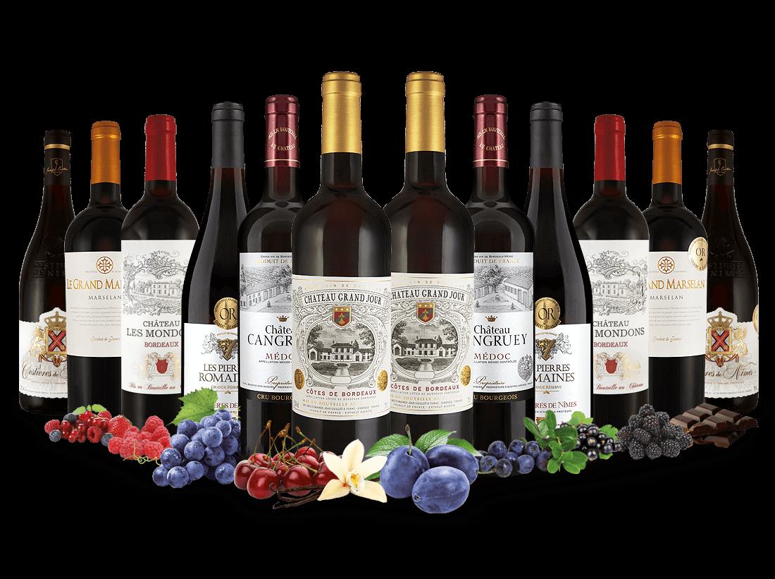 Best of Frankreich Rotwein Entdeckerpaket7,78€ pro l