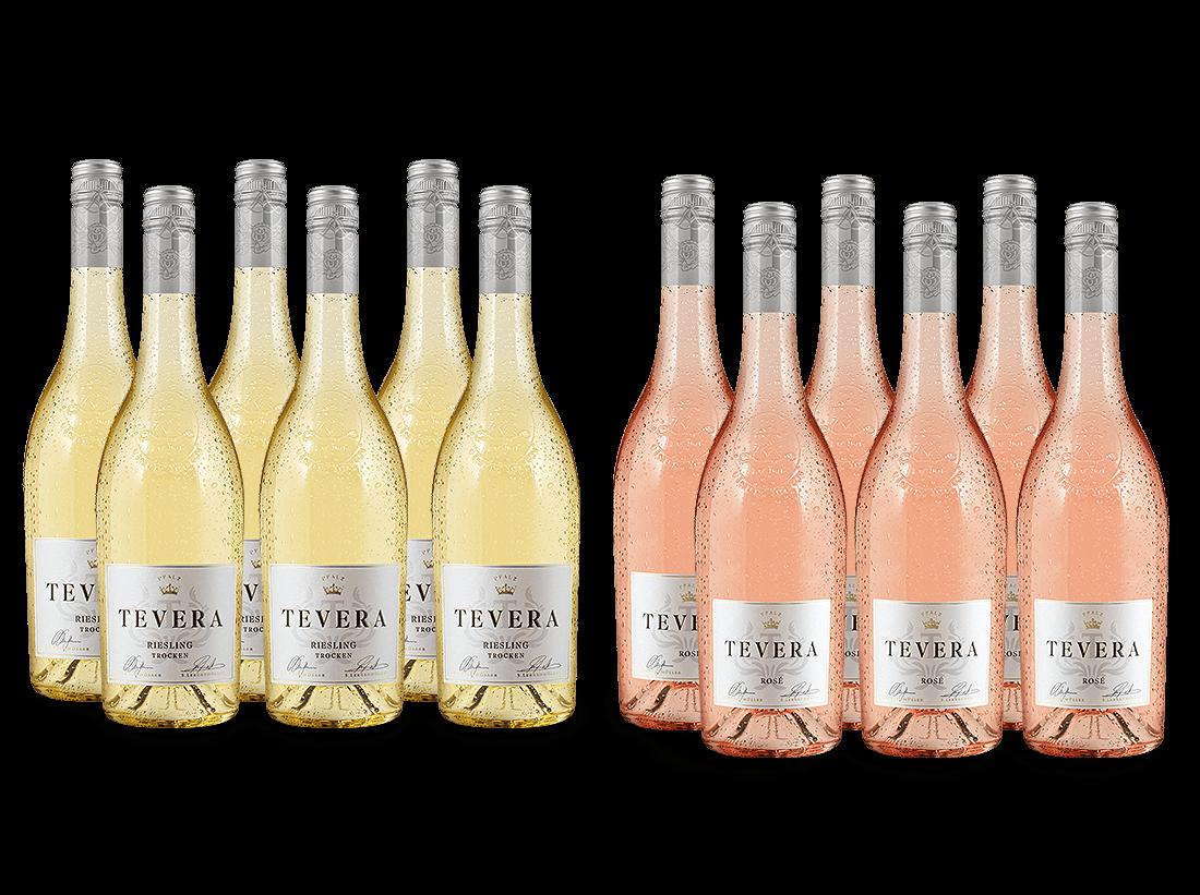 Vorteilspaket 12 für 6 Lergenmüller Riesling & Rosé Saigner TEVERA8,89? pro l