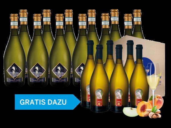12 Flaschen Prosecco Selezione del Re inkl. 6 Flaschen Bella al Bagno gratis