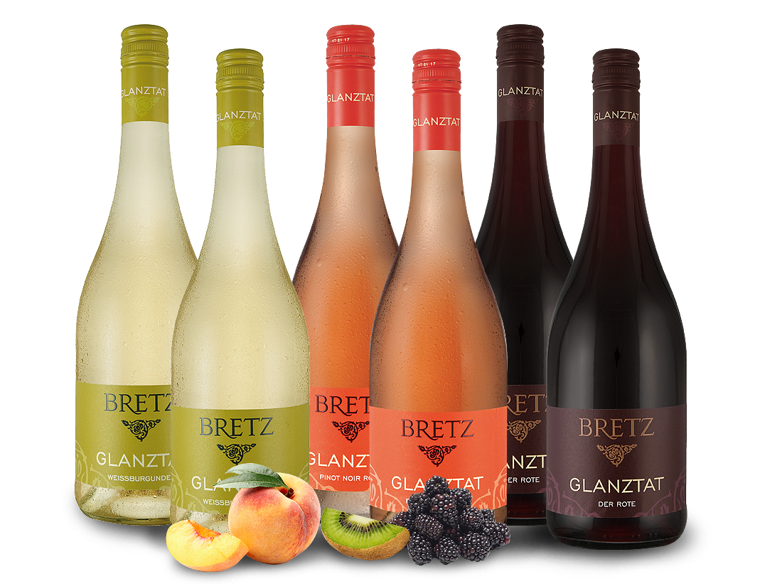 Weingut Ernst Bretz Probierpaket 3 x 2 Fl. Glanztat Rot - Rosé Weiß8,87€ pro l