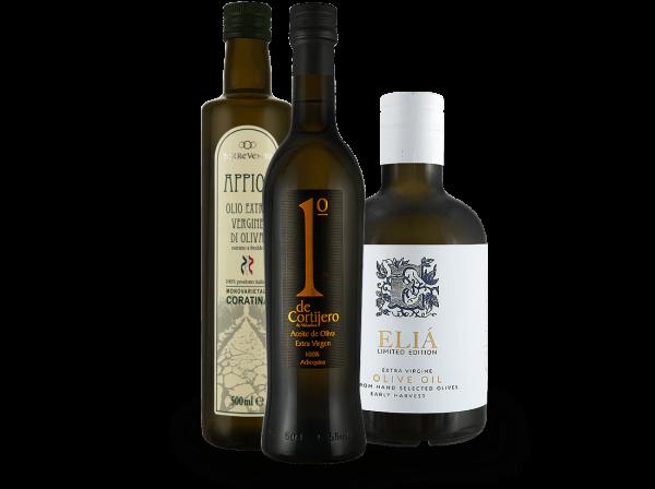 Probierpaket Internationale Olivenöle mit 3 Flaschen