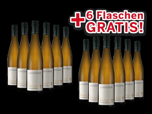 Vorteilspaket 12 für 6 Landgraf Weißburgunder Finesse