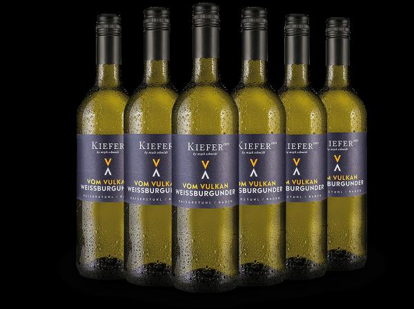 Vorteilspaket 6 Flaschen Kiefer Weißburgunder Vom Vulkan