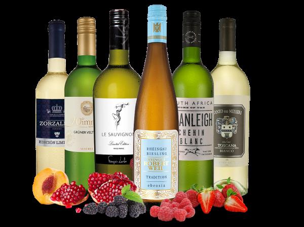 Weißweingenussreise 'Lieblingsrebsorten' mit 6 Flaschen