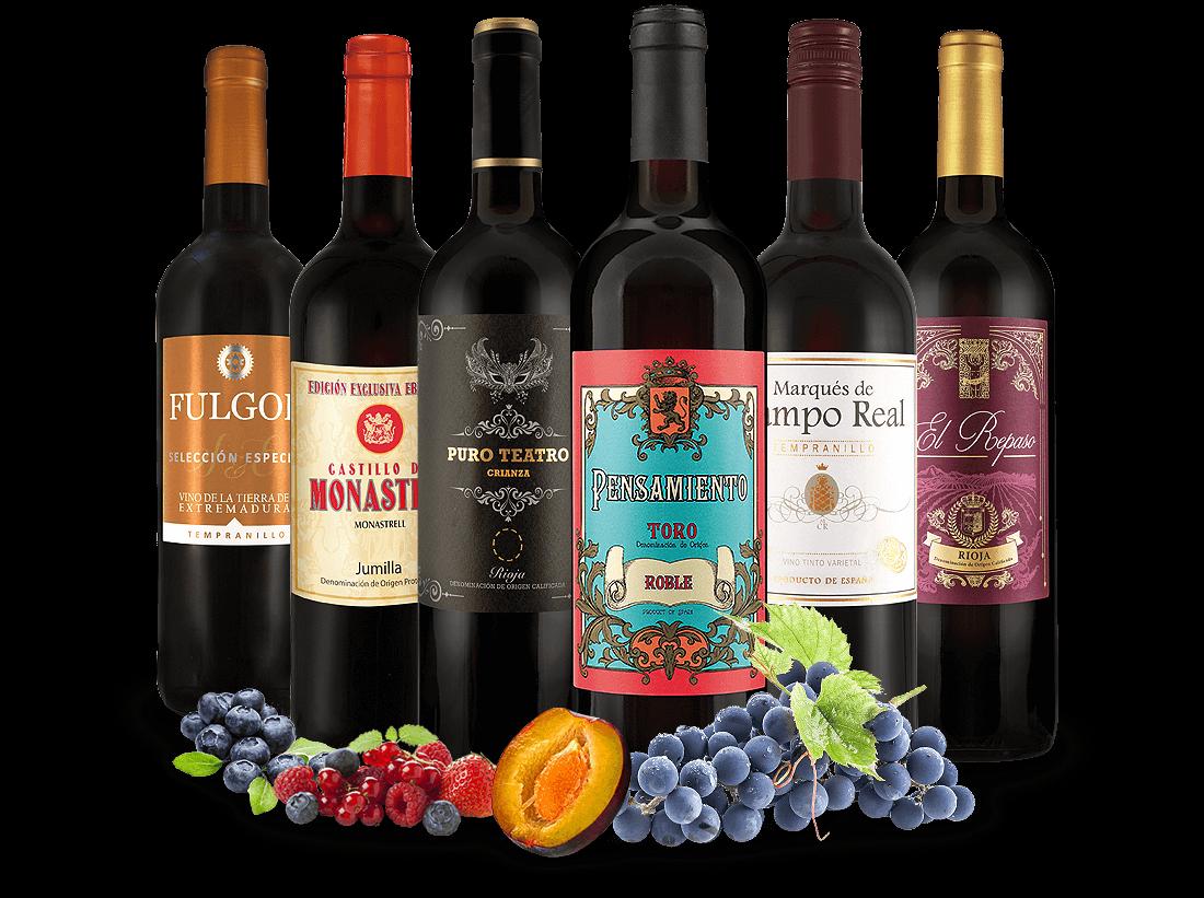 Spanisches Rotwein-Topseller-Probepaket8,89? pro l