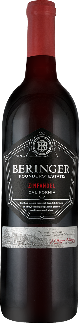 Rotwein Beringer Zinfandel Founders Estate Napa Valley 15,32€ pro l