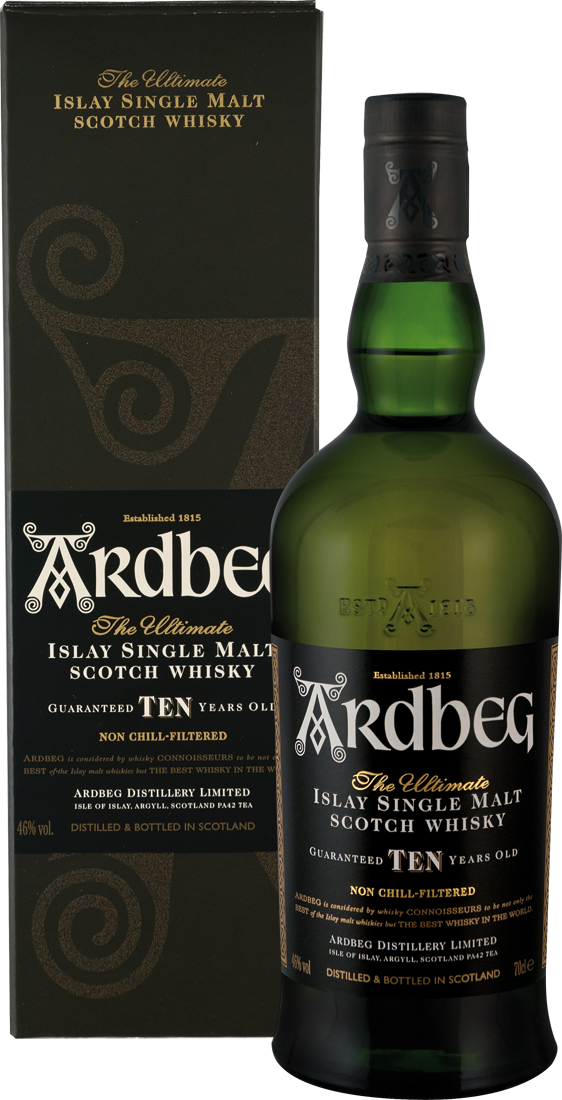 Ardbeg 10 Years Whisky 46% vol. Islay 55,56€ pro l