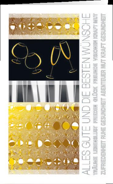 Grußkarte Goldenes Fest