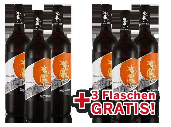 Vorteilspaket 6 für 3 Negroamaro Selezione del Re7,78€ pro l