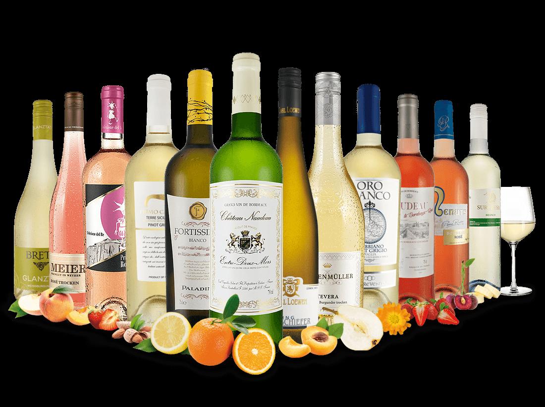 Großes Sommerpaket für Weißwein- & Rosé-Liebhaber7,78? pro l