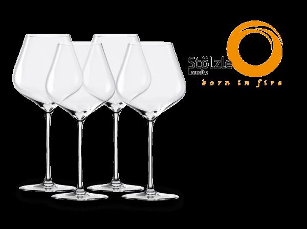 Stölzle Burgunder Rotweinglas Q1 mundgeblasen 4er-Set