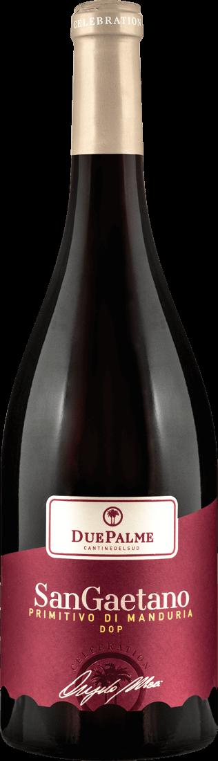 Rotwein Cantine Due Palme Primitivo di Manduria Sangaetano DOP Apulien 12,00? pro l