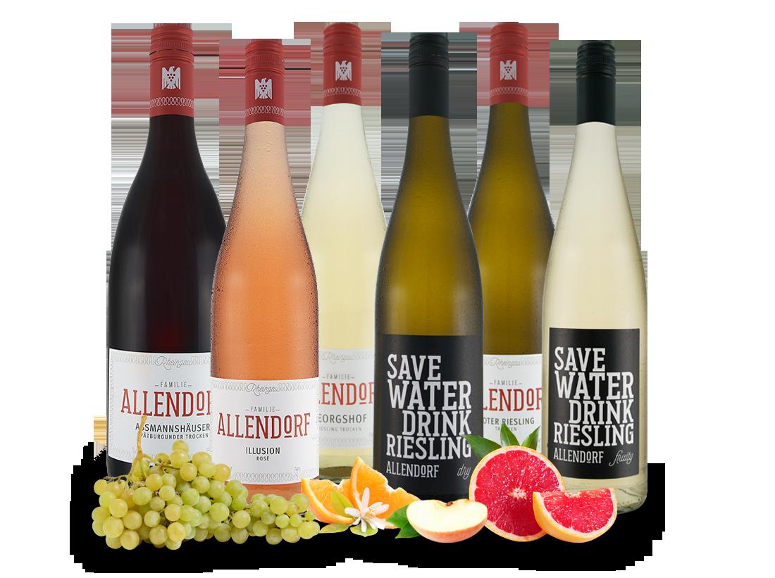 Kennenlernpaket Weingut Allendorf Rheingauer Wein mit 6 Fl.12,20? pro l