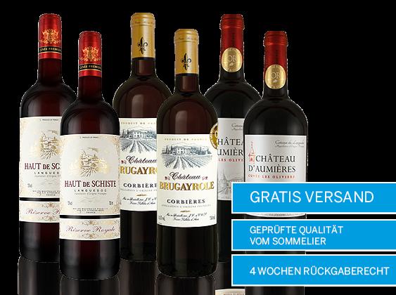 Edle Languedoc Rotweine Probierpaket Versandkostenfrei