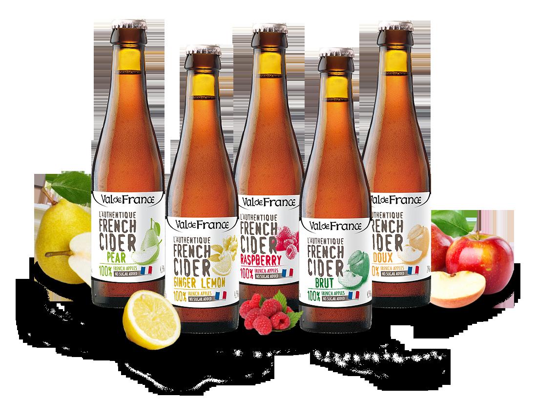 Probierpaket Les Celliers Associés französischer Cidre in 0,33l-Flaschen7,87? pro l