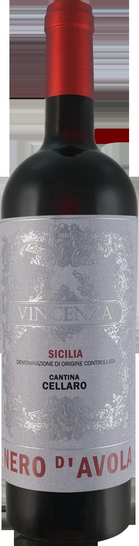 Rotwein Cantina Cellaro Nero dAvola VINCENZA Sicilia DOC Sizilien 9,99? pro l