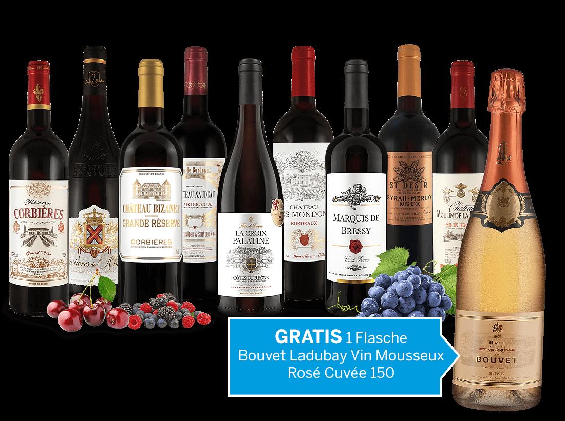 Die grandiose Weinwelt Frankreichs und 1 Fl. Vin Mousseux Rosé Gratis9,61? pro l