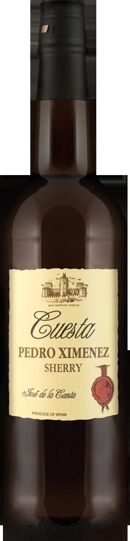 Weißwein Bodegas José de la Cuesta Sherry Pedro Ximénez 17% vol. Jerez 17,99? pro l