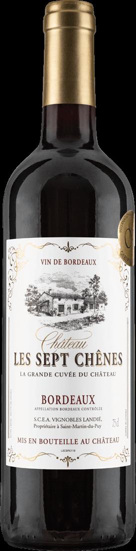 Rotwein Château Les Sept Chênes La Grande Cuvée du Château Bordeaux AOC Bordeaux 9,32? pro l