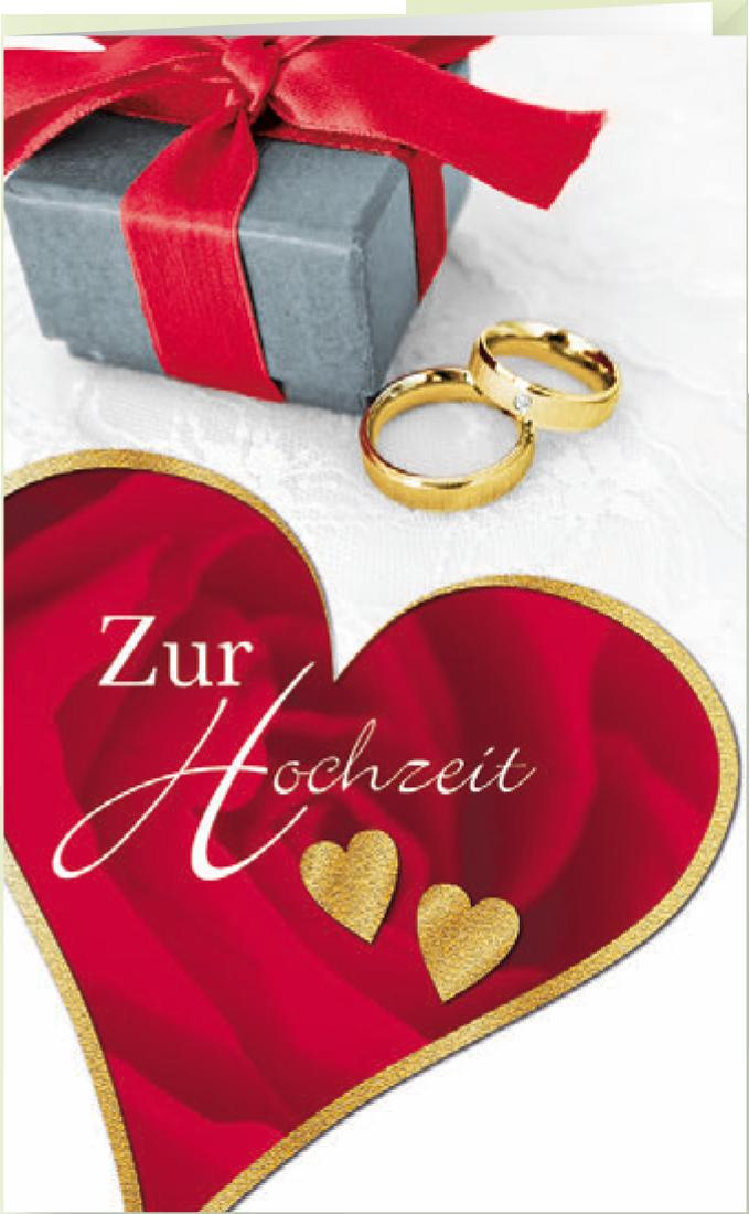 Grußkarte Hochzeit Zwei Herzen