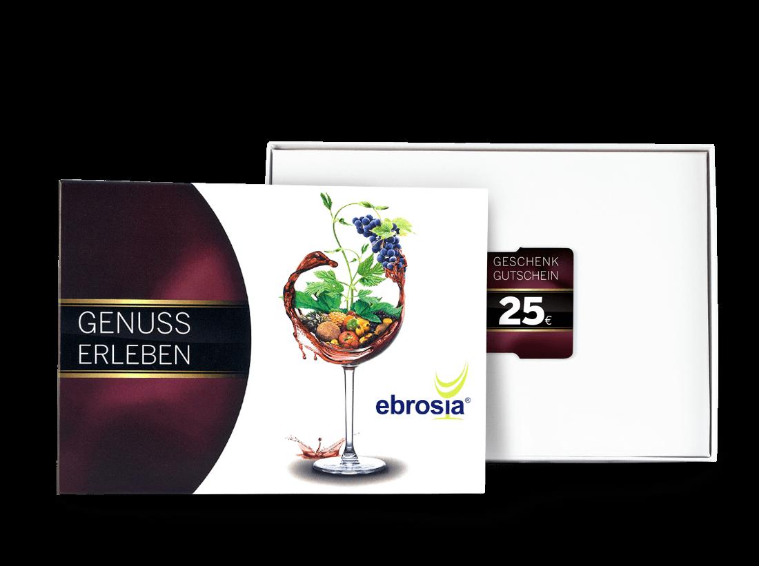 Geschenkkarte Wert 25 ? in dekorativer Präsentbox