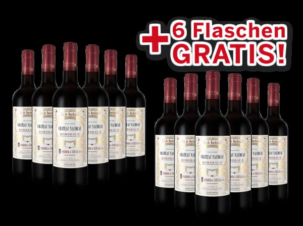 Vorteilspaket 12 für 6 Schröder & Schÿler Château Naudeau Bordeaux